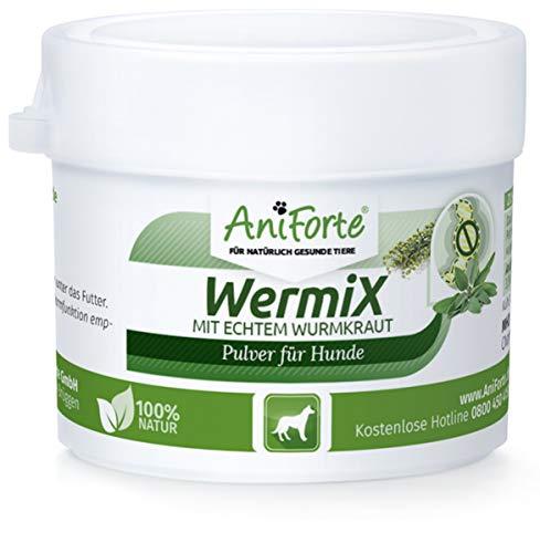 AniForte WermiX Pulver 20g für Hunde – Natürlicher Wurmfeind, Naturprodukt Bei und Nach Wurmbefall