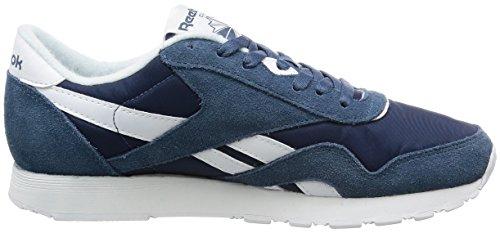 Reebok Classic Nylon, Baskets Basses Pour Hommes Bleu (bleu Brave / Blanc)