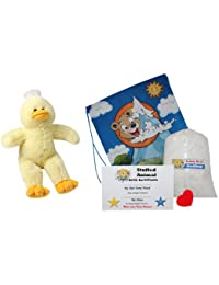 "Make Your Own Stuffed Animal ""Yellow Duck"" No Sew - Kit With Cute Backpack!"