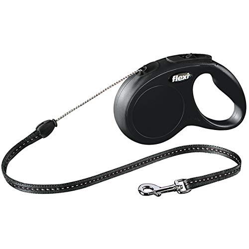 flexi CL10C5.210.S Roll-Leine New Classic S Seil 5 m schwarz für Hunde bis max. 12 kg