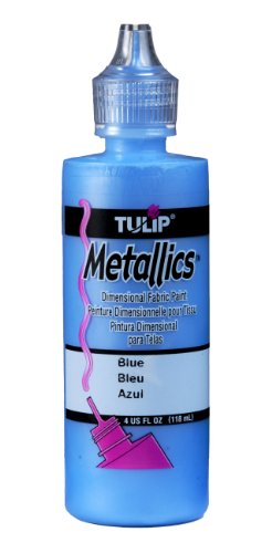 Tulip 3D Fabric Paint 4oz (blau-metallic) -