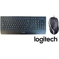 Set Logitech LGT-M500 kabelgebundene Lasermaus + Logitech K280e Tastatur (Kabelgebunden, Business-Tastatur, QWERTZ, Deutsche Layout) schwarz
