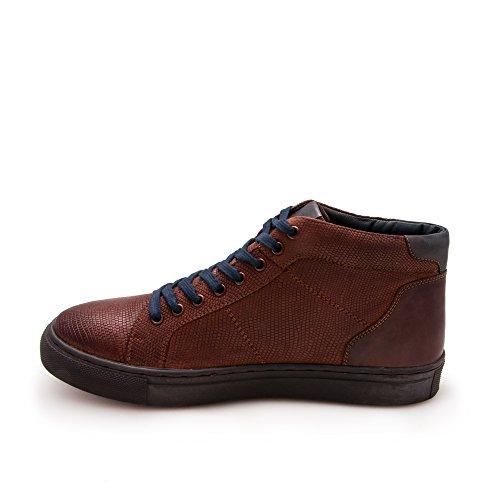 Zerimar Herren Lederschuh Komfortabler Schuh mit Flexibler Gummisohle Leder Casual Schuh für Den Mann Hochwertige Leder Schuhe Elegant 100% Leder Farbe Cognac20