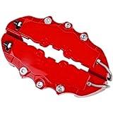 Dankera Red Color Car Caliper Cover 4Pcs 3D Style Car Universal Disc Brake Caliper Covers Front Rear Kits