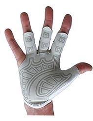 Guantes de remos y guantes de gimnasia - Palma suave de la mano derecha - Guantes sin dedos de los mejores scull para hombres Mujeres (21.5 - 23 cm grandes)