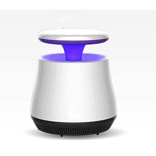 LIXIGB Elektronische Insektenvernichter UV-Licht Saugventilator Daddy Longlegs mit Smart Light Control (Kills Fliegen, Mücken und Blaue Flasche Fliegen) mit USB Powered für Innen Home Office (Weiß)