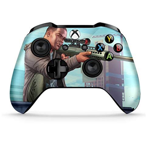 Xbox One S Wireless Controller Pro Console - Newest Xbox Controller  Blue-Tooth with Soft Grip & Exclusive Customized Version Skin (Xbox-GTA V