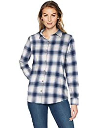 8195eef71b Amazon Essentials Long-sleeve Classic-fit Lightweight Plaid Flannel Shirt