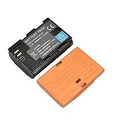Funnyrunstore PROBTY Batterie pour Appareil Photo Canon EOS 5DS 5D Mark II Mark III 6D 7D 60D 60Da 70D 1 x 2650 mAh LP-E6 LP E6 LP-E6N