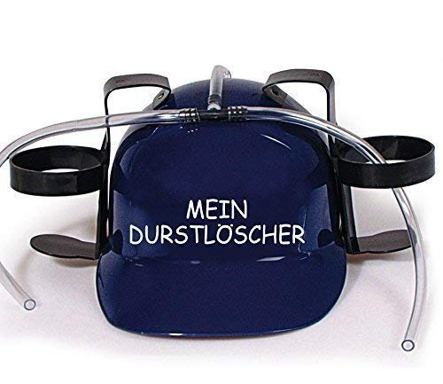 Preisvergleich Produktbild Trinkhelm Spaßhelm mit Print - Mein Durstlöscher - 51650 Farbe blau