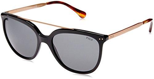 Ralph lauren polo 0ph4135 occhiali da sole, nero (shiny black), 54 donna