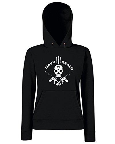 T-Shirtshock - Sweats a capuche Femme TM0433 navy seals Noir