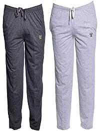 VIMAL JONNEY Men's Cotton and Crush Trackpants (Multicolour, XXL) - Pack of 2