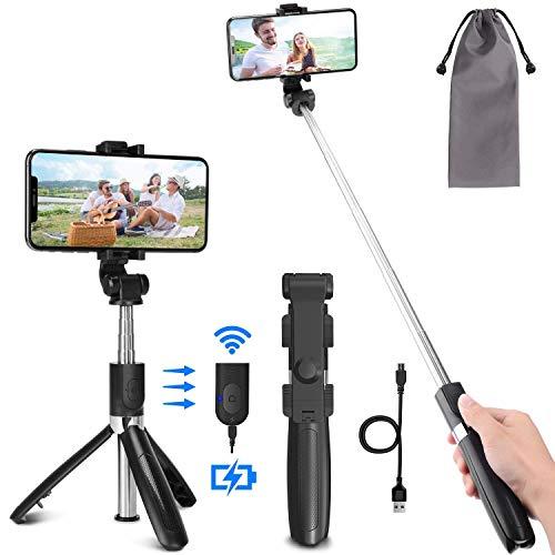 PEYOU Palo Selfie Trípode para Móvil, [ Recargable ] Palo Selfie con...