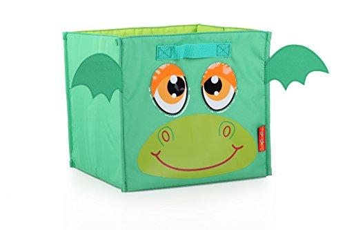 okiedog Lil' Pet Pals 80210 faltbare Aufbewahrungsbox/Regalbox Drache grün (Regal Zwei Flache)