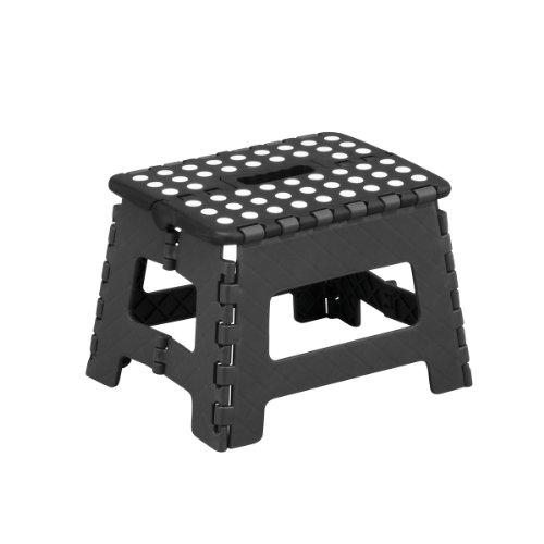 Zeller 99159 Klapphocker, Kunststoff 32 x 25 x 22 cm, schwarz / anthrazit