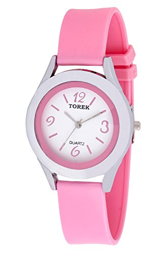 TOREK Pink Dial Analogue Watch For Girls & Women's