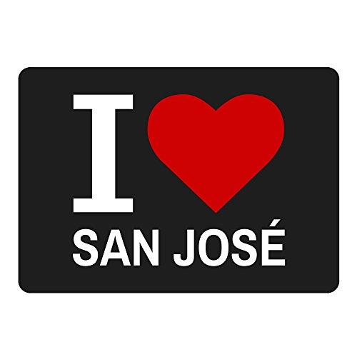 Mousepad Classic I Love San José schwarz