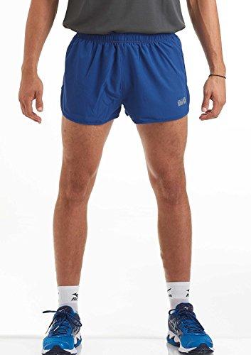 time to run Herren Laufshorts - Leichtes Pace Spirit Workout/Fitnessstudio/Sportliche Shorts mit Innenfutter und Reißverschlusstasche Hinten Tiefblau M