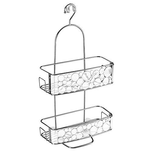 InterDesign Bubbli Dusch Caddy zum Hängen | Duschablage ohne Bohren mit 2 Körben und Haken |...