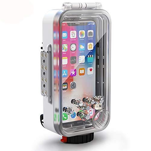 BECROWM EU kompatibles iPhone X XS Unterwassergehäuse Professionelle [60 m] Tauchertasche für Tauchen, Surfen, Schwimmen, Schnorcheln, Foto, Video mit Umhängeband
