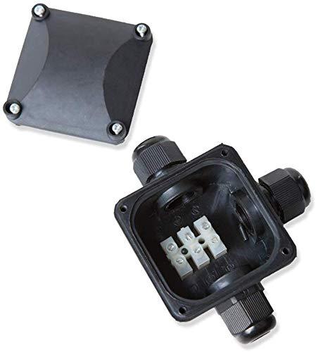 Boîte de jonction 3 compartiments pour l'extérieur boîtier / Cache de dérivation IP67 imperméable LHG verbindungsbox DOUILLE DE SERRAGE kabel-dose ✔ BOÎTE DE CONNEXION ✔distributeur