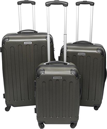 normani REISEKOFFER REISEKOFFERSET Trolley Koffer 2er oder 3er Set, 4 kugelgelagerte Leichtlauf-Rollen, 360-Grad-Rollen-System Farbe Foliage