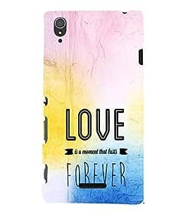 EPICCASE love forever Mobile Back Case Cover For Sony Xperia T3 (Designer Case)