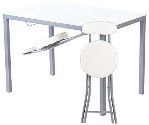 Portus Amigo - Mesa de cocina fija, 110 x 70 cm, color blanco