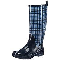 Playshoes Womens Trendiger Damen Gummistiefel Karo Snow Boots