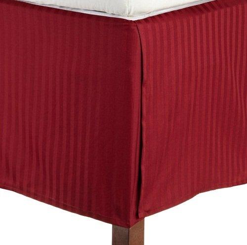 British Wahl Leinen Ägyptische Baumwolle Scala Satin., Burgundy Stripe, Euro Double Ikea