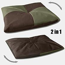BedDog BONA 2en1 verde/marron L aprox. 65x50cm colchón para perro, 5 colores, cama para perro, sofá para perro, cesta para perro