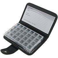 Preisvergleich für 7 Tage Pillenbox Tablettenbox Organizer 4 Fächer Tablettendose Reisen Pillendose für Jeden Tag