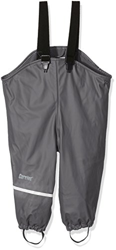 CareTec Kinder Regenhose mit Fleecefutter, Grau (Grey 174), 80
