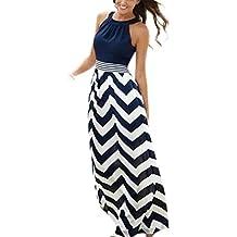 vestidos de fiesta largos de noche Sannysis vestidos playa mujer, color azul (2XL)