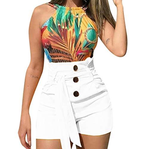 Cebbay Damen Mode Sexy Hohe Taille Hotpants Slim Fit Lässige Style Beach Shorts Hosen mit ()