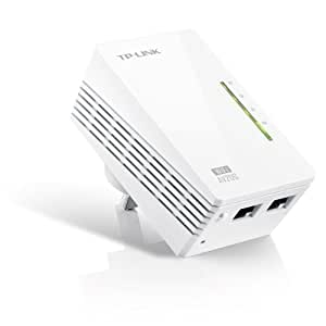 TP-LINK TL-WPA281 V3 AV200 Powerline 300M Wi-Fi Extender/Wi-Fi Booster/Hotspot with Two Ethernet Ports (Easy Configuration, Wi-Fi Clone for Smartphone/Tablets/Laptop)