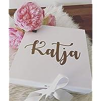 personalisierte Geschenkbox in weiß für eure Trauzeugin, Brautjungfer
