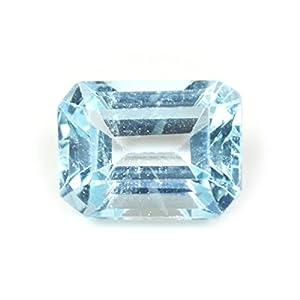 55ct Blau Topaz Stein 3Karat Original Natural lose quadratisch Edelstein
