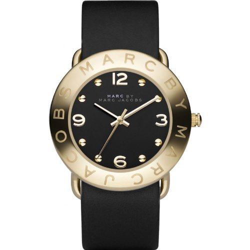 Marc by Marc Jacobs Watch, Women's Black Leather Strap MBM1154 Uhr - Damen (Marc Jacobs Black Watch)