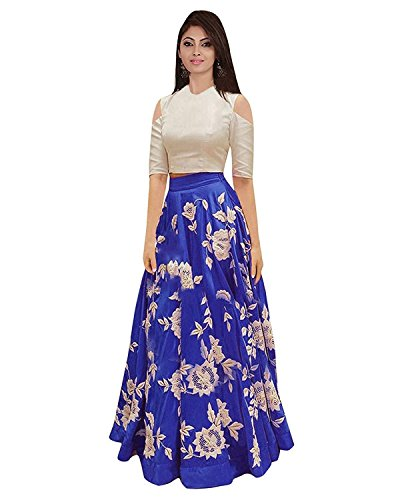 Vaankosh Fashion Women\'s Silk Cotton Dress Material (sp102_Royal Blue_Free Size)