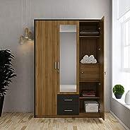 Home Centre Quadro Three Door Wardrobe - Walnut