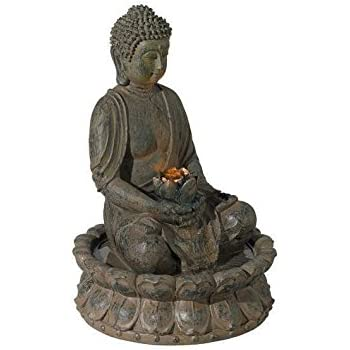 Evre indoor buddha fountain decoration w led lighting bronze 40cm evre indoor buddha fountain decoration w led lighting bronze 40cm workwithnaturefo