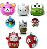 Cat Tails Cartoon Bell for Collar for Cats and Dogs (1 charm only)