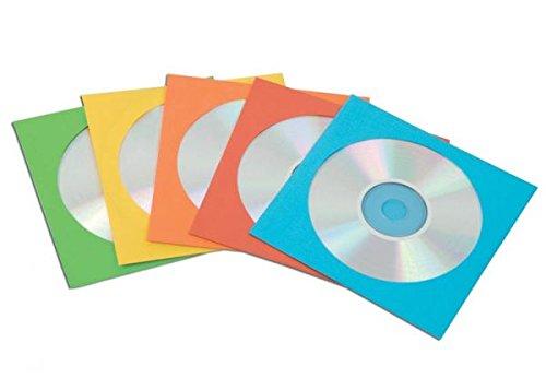 Fellowes Buste per CD, in Carta, 50 pezzi, Colori Assortiti