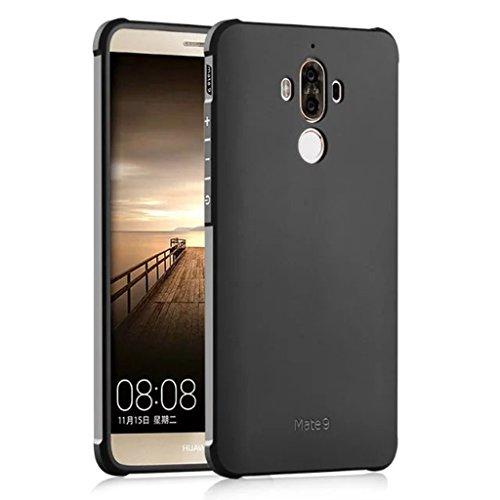 Schutzhülle Huawei Mate 9 Hülle, Business Serie Stoßfest Ultra Dünn Weich Silikon Rückseite Fall für Huawei Mate 9 (Schwarz)
