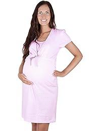 Hübsches Stillnachthemd Nachthemd Umstandsnachthemd 100% Baumwolle 7001D