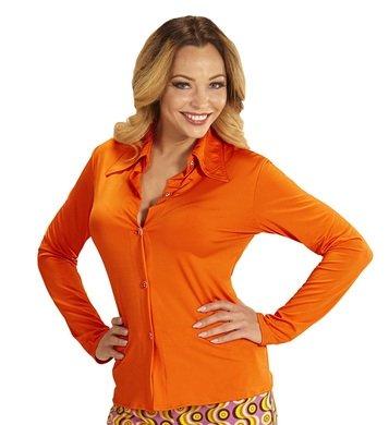 NEU Damen-Kostüm Bluse, orange, Gr. L/XL (Achtziger Jahre Motto Kostüme)