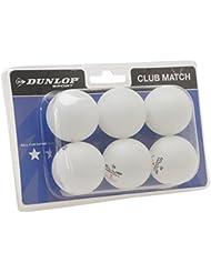 Dunlop Club Match 6 Pelotas Tenis Mesa