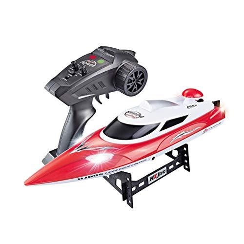 Toyvian Ferngesteuerte Boote HJ806 Elektro Schiff mit Sender Hochgeschwindigkeit Kinder Spielzeug Rot